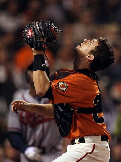 Deacon White, who caught without a mitt or protective gear, has the respect of the Giants' Buster Posey. Photo: Lance Iversen, The Chronicle