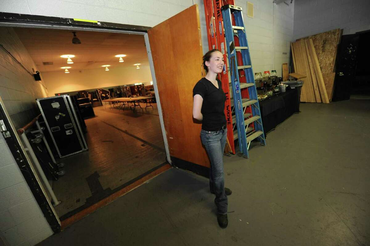 Tiffany Elie a production manager at SPAC in Saratoga Springs NY Wednesday Aug. 1, 2012. (Michael P. Farrell/Times Union)