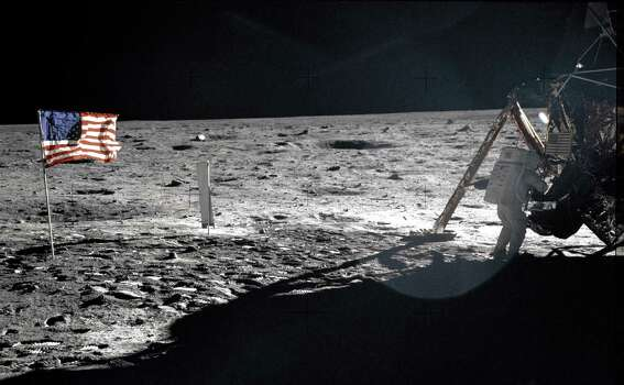 """This undated image obtained from NASA shows Astronaut Neil A. Armstrong, Apollo ll mission commander, at the Lunar Module """"Eagle"""" on the historic first extravehicular activity (EVA) on the lunar surface. Astronaut Edwin E. Aldrin Jr. took the photograph with a Hasselblad 70mm camera. This is one of only a few that show Neil Armstrong (some of these are blurry).  Armstrong has died, US media reported August 25, 2012. He was 82. Armstrong underwent cardiac bypass surgery, earlier this month after doctors found blockages in his coronary arteries. He and fellow Apollo 11 astronaut Buzz Aldrin landed on the moon on July 20, 1969, before the eyes of hundreds of millions of awed television viewers worldwide. Photo: -, AFP/Getty Images / AFP"""