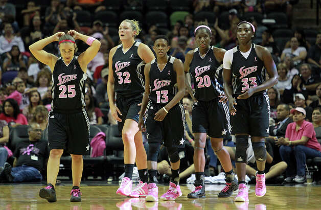 Silver Stars host the Tulsa Shock at the AT&T Center on August 25, 2012. Photo: Tom Reel, Express-News / ©2012 San Antono Express-News
