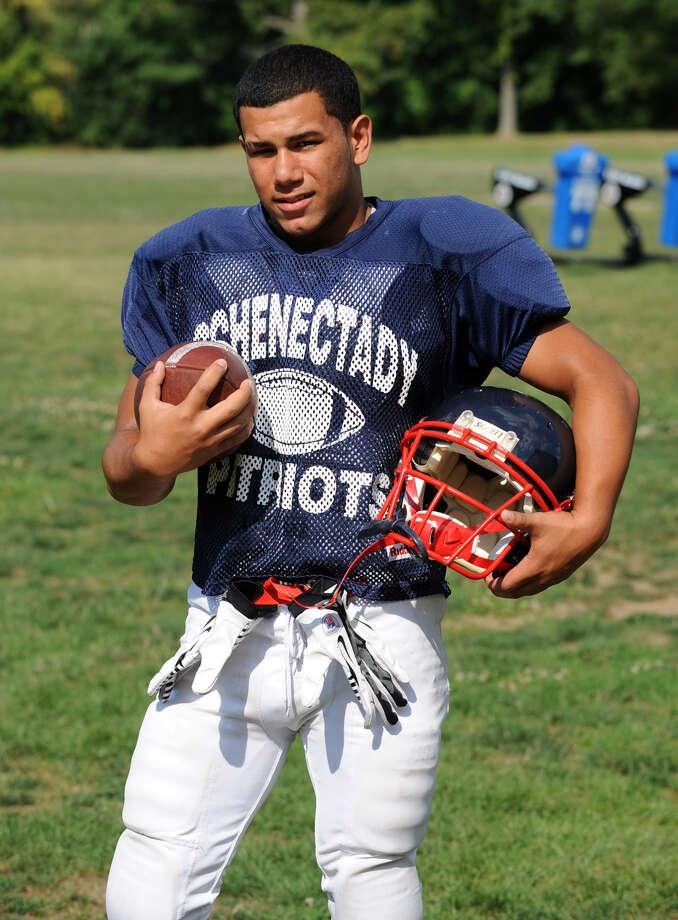 Schenectady Running back Felix Rodriquez during football practice at the school on Thursday, Aug. 23, 2012 in Schenectady, N.Y. (Lori Van Buren / Times Union) Photo: Lori Van Buren
