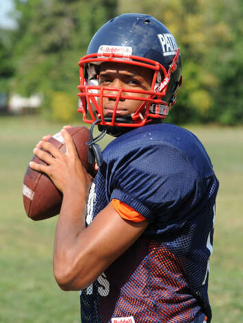 Schenectady QB Kwame Jarvis during football practice at the school on Thursday, Aug. 23, 2012 in Schenectady, N.Y. (Lori Van Buren / Times Union) Photo: Lori Van Buren