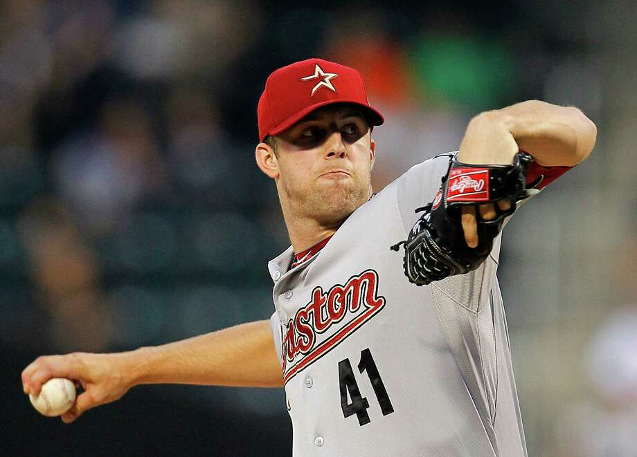 Jordan Lyles pitched in two games for the Tri-City ValleyCats in 2009. The Astros drafted him in the first round with the 38th overall pick in 2008. Photo: Paul Bereswill