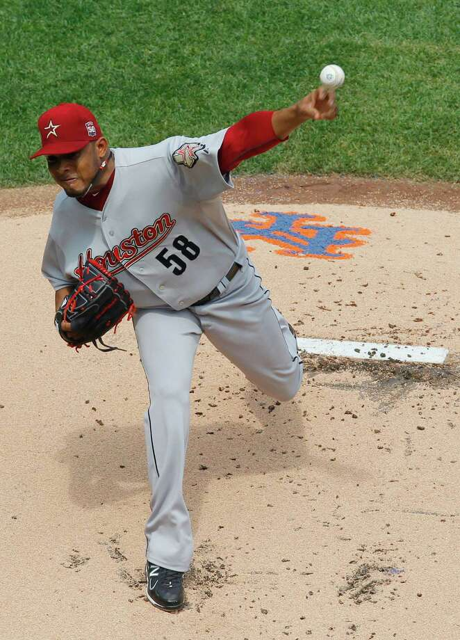 Relief pitcher Fernando Abad made two appearances for the Tri-City ValleyCats in 2007. The Astros signed him as an amateur free agent in 2002. Photo: Paul Bereswill