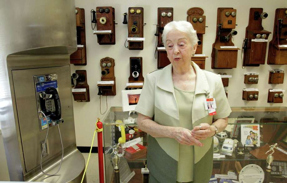 """Oleta Porter is curator of the Doc Porter Museum of Telephone History. The museum is named after her late husband, Clyde """"Doc"""" Porter, who is credited with expanding the facility, founded in 1966, to its current size. Photo: Melissa Phillip / © 2012 Houston Chronicle"""