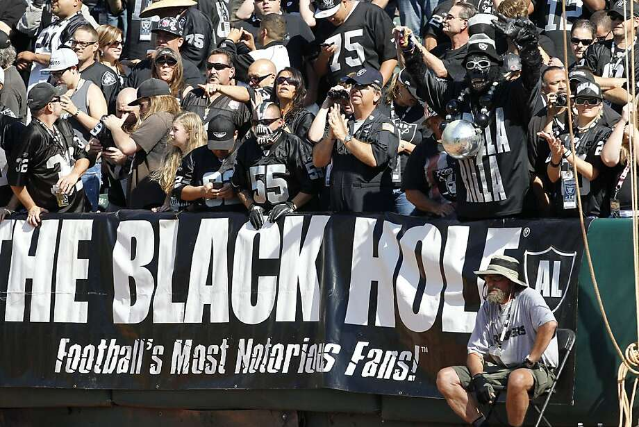 A new smaller stadium for the Raiders might provide the NFL's most intimate theater. We know what a cozy and intimidating Black Hole that might create, but the tab is a big question mark. Photo: Tony Avelar, Associated Press