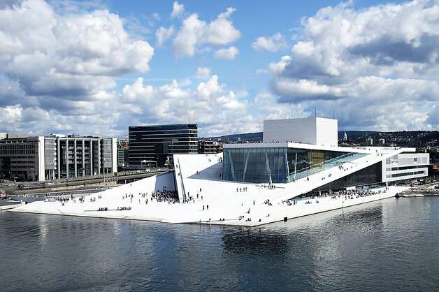 The Oslo Opera House opened in 2008. The architect was Snohetta, which has been selected to design the arena that the Golden State Warriors seek to build along San Francisco's Embarcadero. Photo: Christopher Hagelund, Snohetta