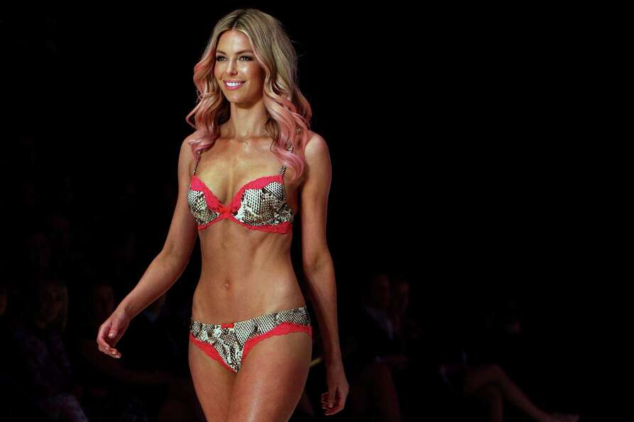 Jennifer Hawkins showcases designs by Bendon presents Lovable on the catwalk. Hawkins is a former Mi
