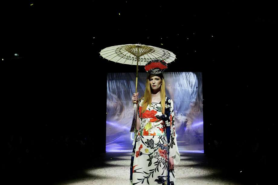 A model showcases designs by Akira on the catwalk. Photo: Lisa Maree Williams, Getty Images / 2012 Getty Images
