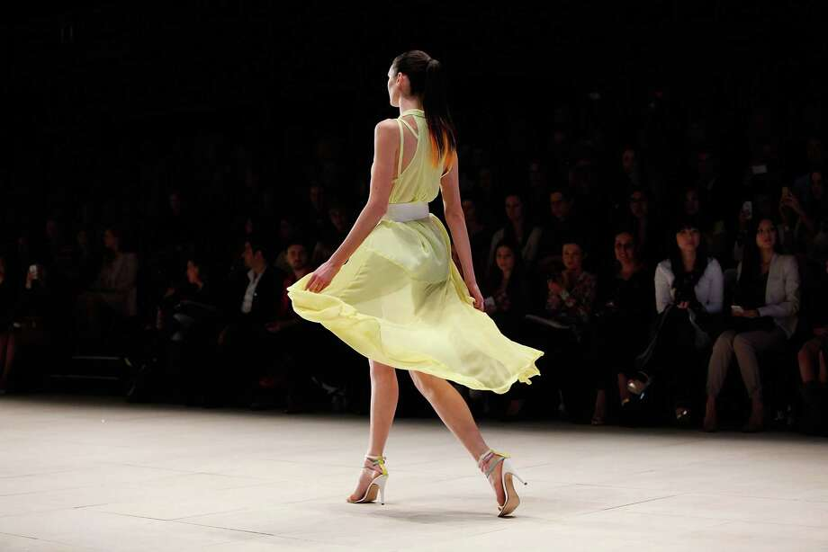 A model showcases designs by Talulah on the catwalk. Photo: Jennifer Polixenni Brankin, Getty Images / 2012 Getty Images