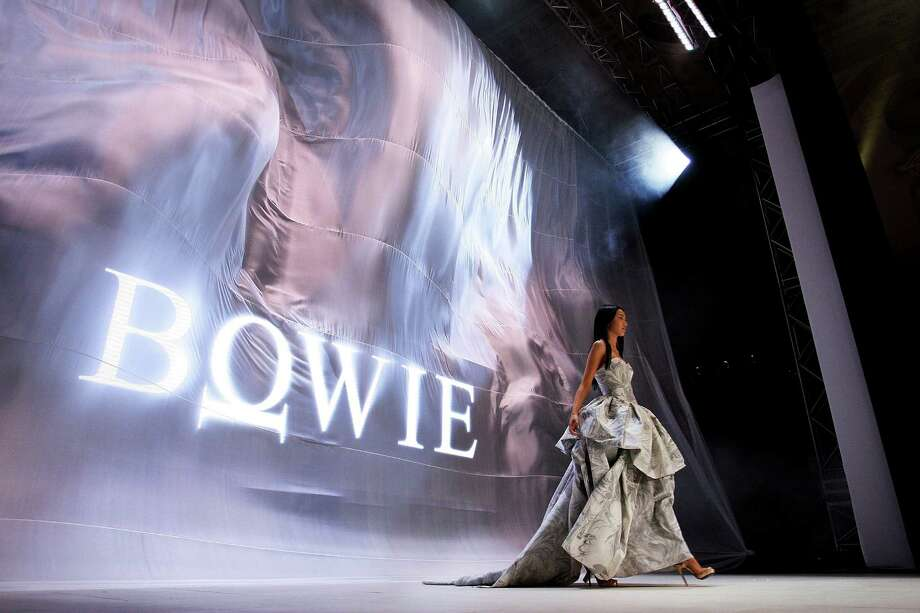 A model showcases designs by Bowie on the catwalk. Photo: Lisa Maree Williams, Getty Images / 2012 Getty Images
