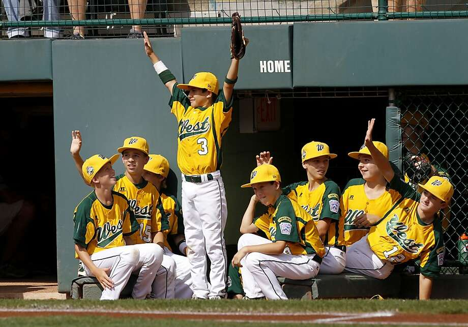 The Petaluma All-Stars acknowledged the applause from the crowd before the game. The Petaluma All-Stars defeated the team from Panama 12-4 to win the consolation contest at the Little League World Series Sunday August 26, 2012 in Williamsport, Pennsylvania. Photo: Brant Ward, The Chronicle