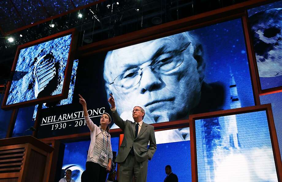 Minority Leader Mitch McConnell (R-KY) (R) points while on stage ahead of the Republican National Convention at the Tampa Bay Times Forum on August 26, 2012 in Tampa, Florida. The RNC is scheduled to convene on August 27 and will hold its first session on August 28 as Tropical Storm Isaac threatens disruptions due to its proximity to the Florida peninsula.  (Photo by Chip Somodevilla/Getty Images) Photo: Chip Somodevilla, Getty Images