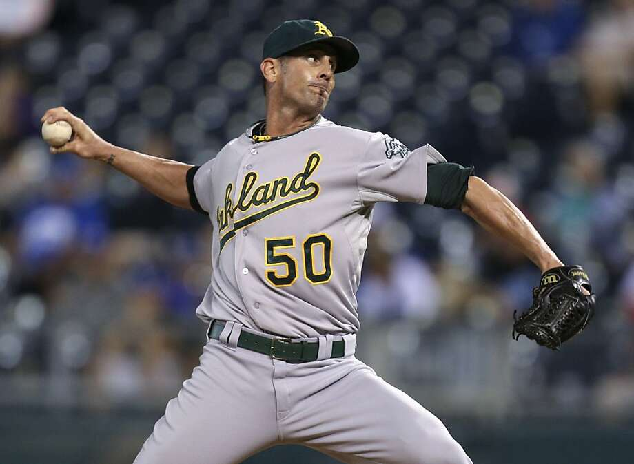 A rough stretch in late April and early May cost Grant Balfour the A's closer job, but he got it back Aug. 11. Photo: Ed Zurga, Getty Images