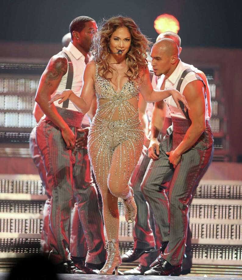 Jennifer Lopez performs at the Toyota Center,  Monday, Aug. 27, 2012, in Houston.  ( Karen Warren / Houston Chronicle ) Photo: Karen Warren / © 2012  Houston Chronicle