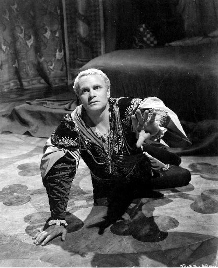 Laurence Olivier played the title role in the 1948 film 'Hamlet' (based off the play by William Shakespeare) and, in doing so, was the first actor to direct himself to an acting Oscar.
