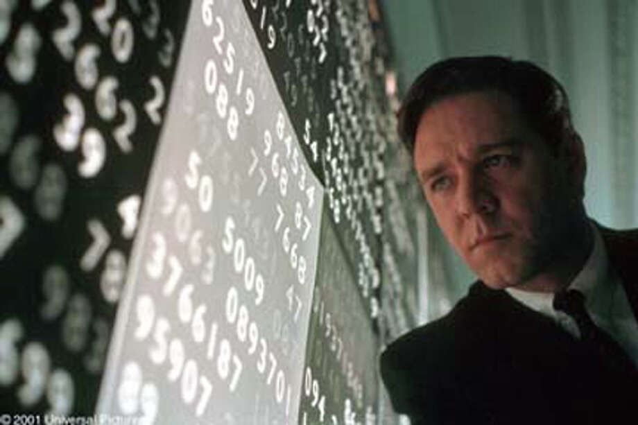 'A Beautiful Mind,' starring Russell Crowe as mathematician John Nash, won the Academy Award for Best Picture in 2001 and is based on a book by Sylvia Nasar.