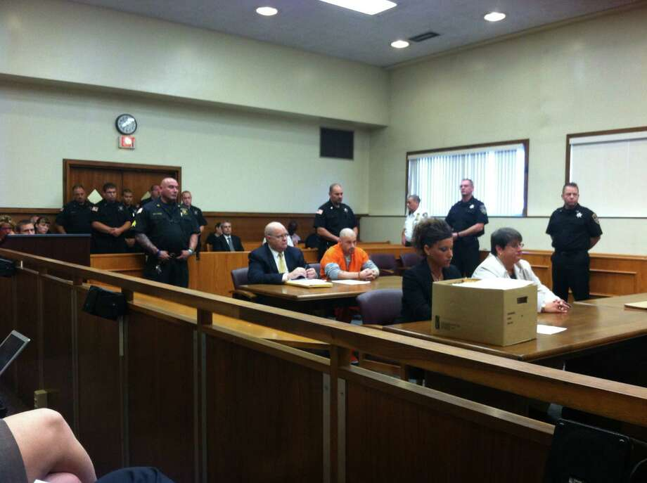 John Batease Sentencing in Schenectady County Court for the alleged killing of a 20-month old child Aug. 29, 2012. (Skip Dickstein / Times Union) Photo: Skip Dickstein Times Union