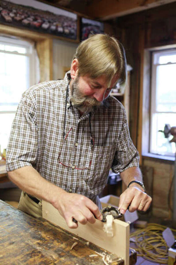 Custom furniture maker Greg Pattison is a Scandinavian-trained craftsman who has fashioned everything from boats to spiral stairways in his 35-year career.  Read the full story here. Photo: Krishna Hill/Life@Home