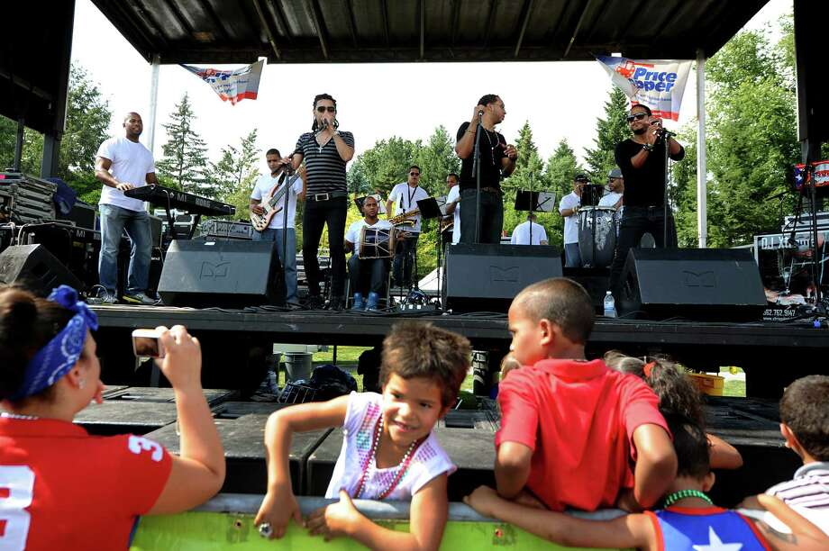 The band Mala Fe performs during the Albany Latin Fest on Saturday, Aug. 25, 2012, at Washington Park in Albany, N.Y. (Cindy Schultz / Times Union) Photo: Cindy Schultz, Albany Times Union / 00019020A