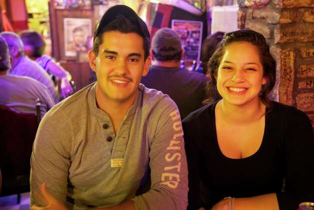 Saul Gomez and Lorena Hernandez are enjoying the first visit to Ruben's Place.
