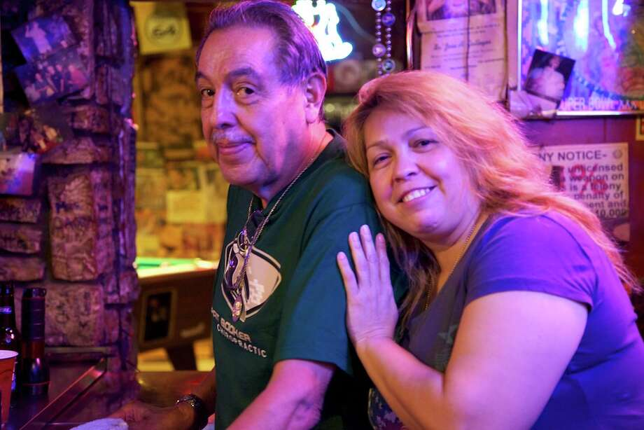 Ruben Castro, the owner of Ruben's Place, with his daughter Frankie Kline.