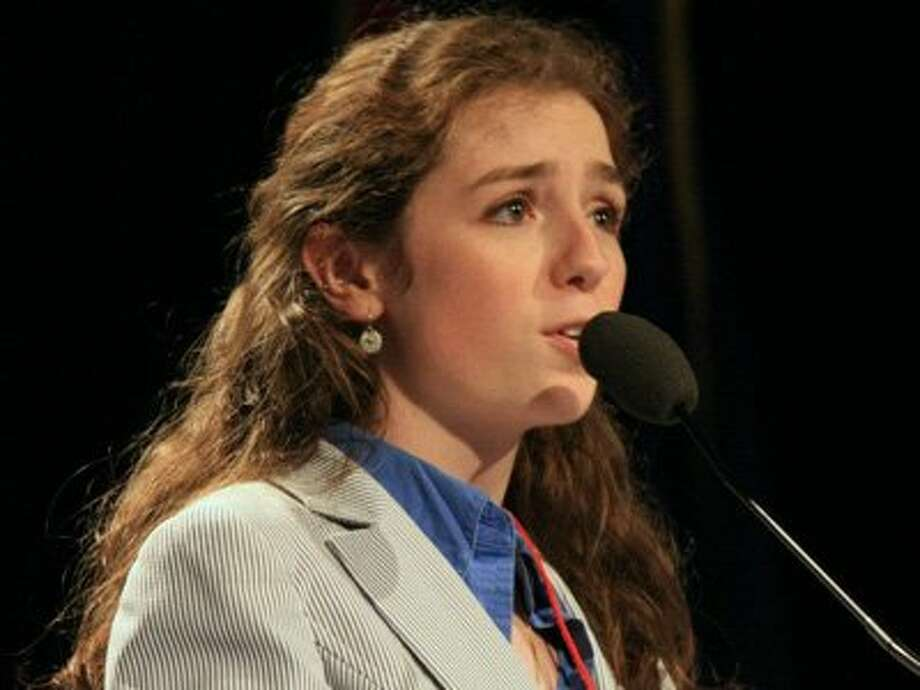 Paul support Ashley Ryan was elected a Republican National Committee member from Maine. At 21, she is the youngest RNC member in history. (AP)