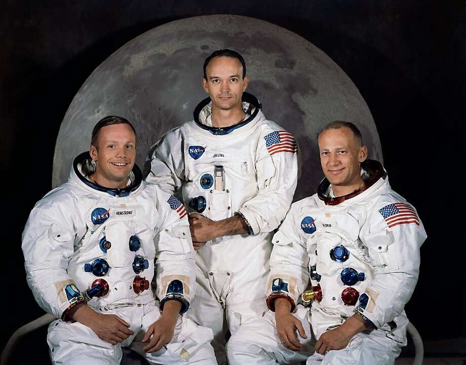 Armstrong (left, with Apollo 11 crewmates Michael Collins and Buzz Aldrin) died Saturday at age 82. Armstrong became an educator after he retired from NASA. Photo: Associated Press