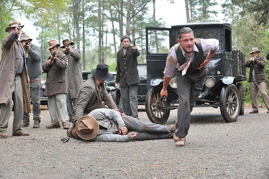 "This film image released by The Weinstein Company shows Shia LaBeouf, right, in a scene from ""Lawless."" (AP Photo/The Weinstein Company, Richard Foreman, Jr.) Photo: Richard Foreman, Jr., Associated Press"
