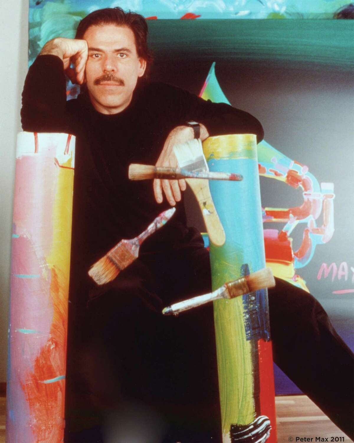 Legendary pop artist Peter Max will exhibit his work at the Geary Gallery in Darien Thursday, Sept. 6 through Sunday, Sept. 9.