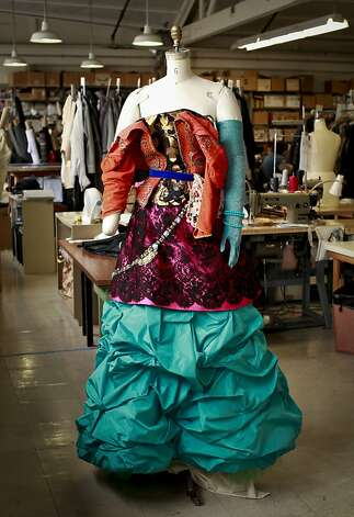 "A cortisan costume designed by Christian Lacroix for the SF Opera's , ""The Capulets and The Montagues,"" is seen at the SF Opera's costume shop on Thursday, Aug. 23, 2012 in San Francisco, Calif. Photo: Russell Yip, The Chronicle"