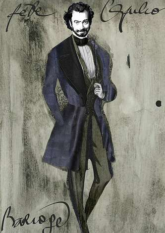 "Christian Lacroix's sketch of a man's costume for the San Francisco Opera's production of ""The Capulets and the Montagues."" Photo: San Francisco Opera"