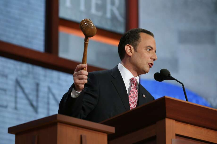 TAMPA, FL - AUGUST 27:  RNC Chairman Reince Priebus bangs the gavel to start the Republican National Convention at the Tampa Bay Times Forum on August 27, 2012 in Tampa, Florida. The RNC was scheduled to convene Monday, but will hold its first full session Tuesday after being delayed due to Tropical Storm Isaac.  (Photo by Chip Somodevilla/Getty Images) (Chip Somodevilla / Getty Images)