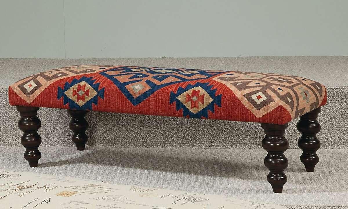 $525: Hammary Hidden Treasures Kilim Rug Bench from Wayfair (wayfair.com)