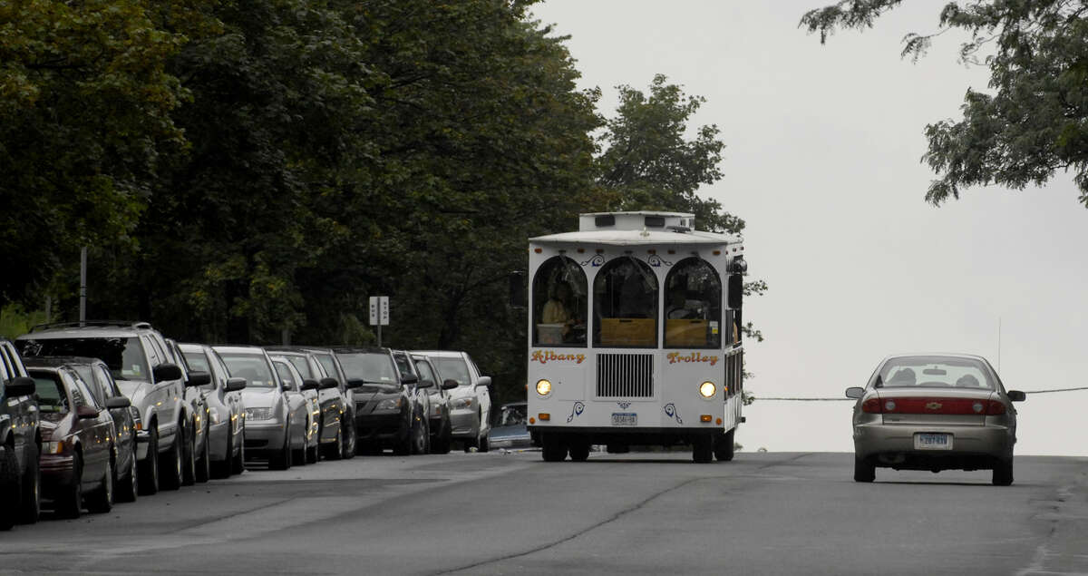 An Albany Trolley in action, Aug. 30, 2006, in Albany, N.Y. (Skip Dickstein / Times Union archive)