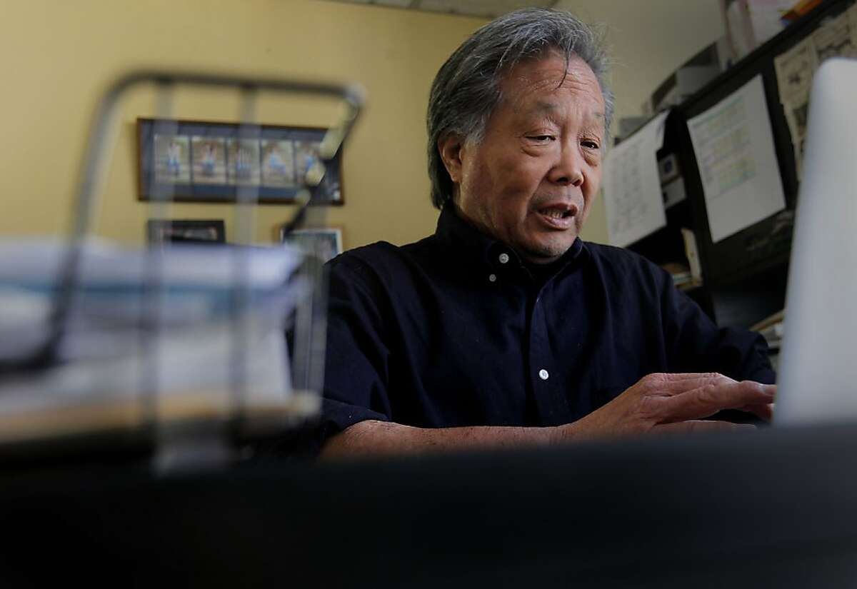 Ed Lee, at work where he runs a public relations company, in Redwood City, Calif., on Thursday August 2, 2012. Lee who has negotiated with health plan providers in the past has dropped health care coverage completely now that the deductibles have priced him out of the market.