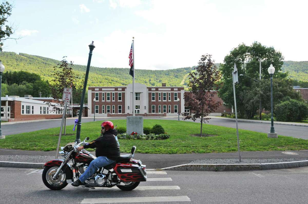The Windham Ashland Jewett Central School has undergone repairs from extensive damage it sustained during Tropical Storm Irene in late August 2011, seen here on Tuesday Aug. 21, 2012 in Windham, NY. (Philip Kamrass / Times Union)