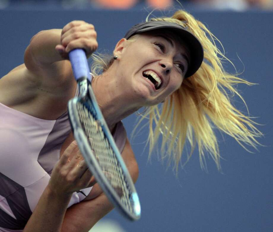 Third-seeded Maria Sharapova defeated Melinda Czink 6-2, 6-2 in a little over an hour Monday. Photo: TIMOTHY A. CLARY / AFP