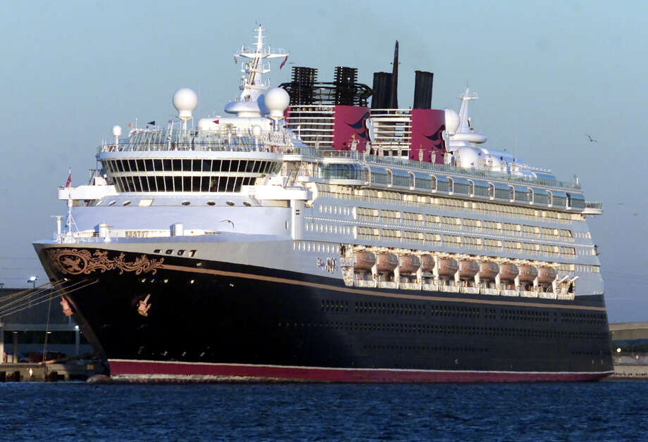 The Disney Cruise Line ship Magic docks at Port Canaveral, Fla., after a November 2002 cruise. The ship is slated to sail from Galveston in September. Photo: LUIS M. ALVAREZ, AP / AP