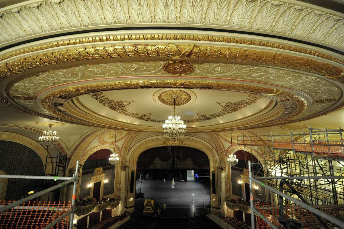 A view of the ceiling inside Proctors Theatre seen here during a press event to unveil the restoration work done on the ceiling inside Proctors Theatre on Monday, Aug. 27, 2012 in Schenectady, NY. The project was funded in part by a $100,000 award Proctors received through state's Regional Council initiative. (Paul Buckowski / Times Union)