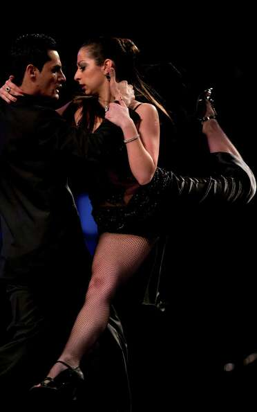 Argentine tango dance couple Jorge Carrizo and Valeria Romero compete in the stage category at the T