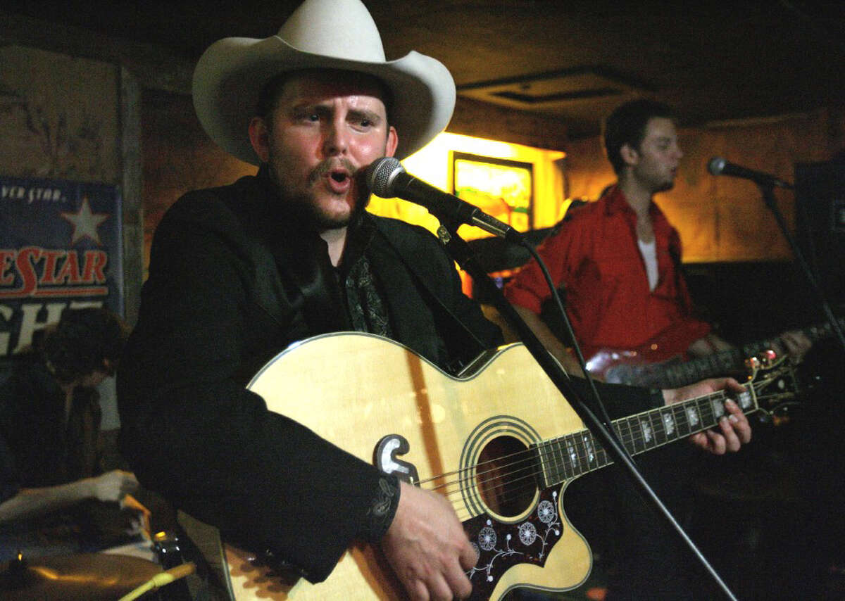 Musician Rodney Hayden at the Bud Lite Courtyard on Tuesday before and after the rodeo. Courtesy photo