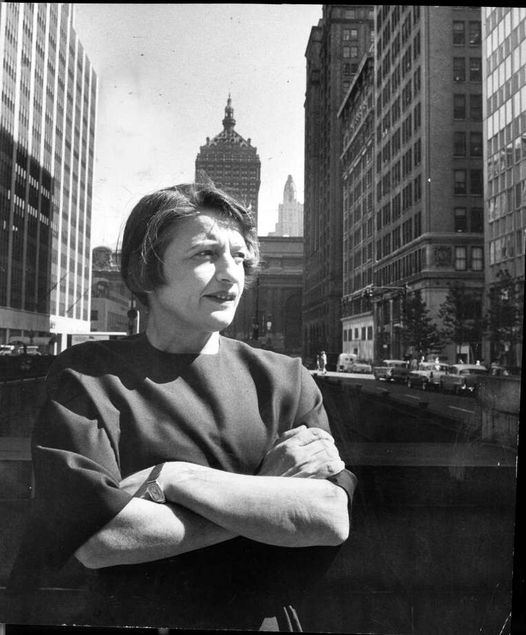 One of our readers is amused that GOP vice presidential candidate Paul Ryan admires Ayn Rand, shown here in New York in 1957, even though some of her positions, including her atheism, contradict his own. Photo: Allyn Baum, New York Times / NYTNS