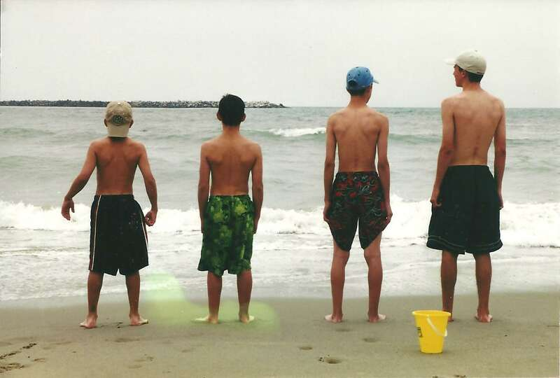 These photo is of our 4 sons--Cris, Brandon, Matthew and Cameron Fischer taken in 2002 on the Califo