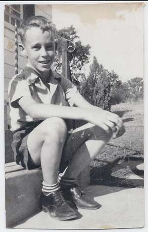 This photo is a picture of my Dad, Larry Bower, taken in 1942 at 8 years of age in front of his house--Joanna Brandt Photo: Joanna Brandt, Reader Submission