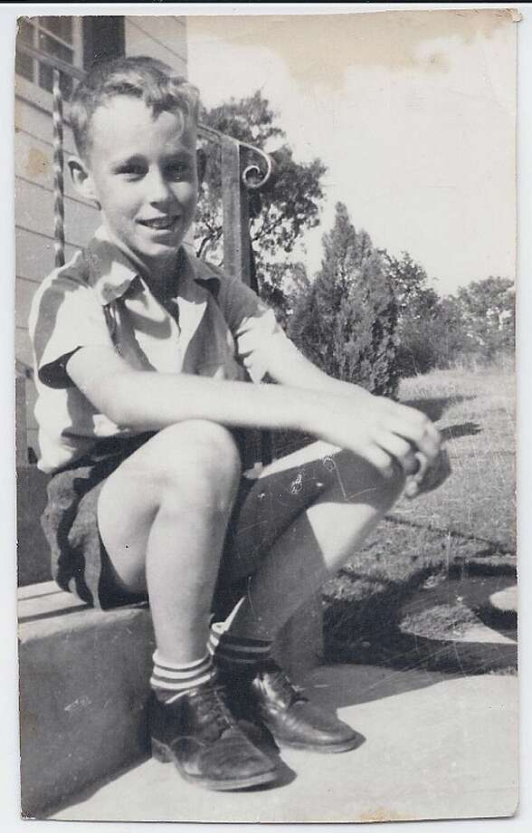 Then: This photo is a picture of my Dad, Larry Bower, taken in 1942 at 8 years of age in front of his house--Joanna Brandt Photo: Joanna Brandt, Reader Submission