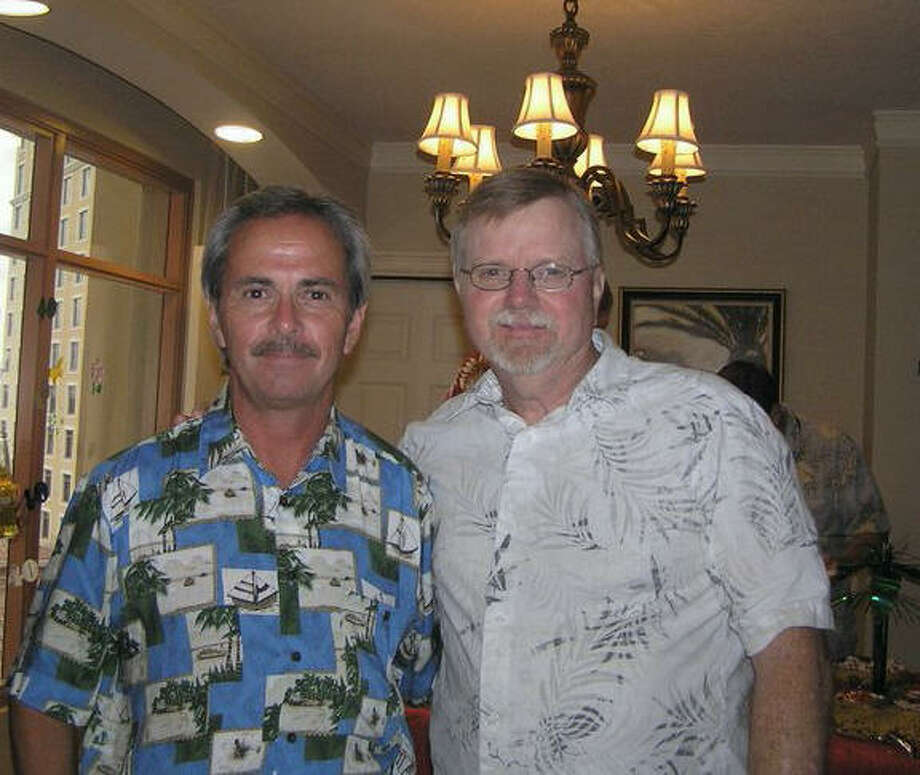 Now:This photo of Dan Cretaro and Bryan Ball was taken their our 40th high school class reunion in Florida 2010. We had not seen each other since 1971. -- Dan Cretaro Photo: Dan Cretaro, Reader Submission