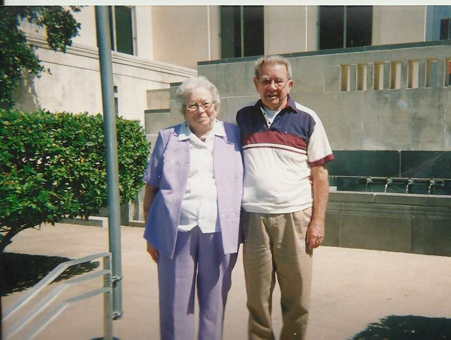 In 1951 Bobby Jones and Margaret Stark drove to Seguin to get married and had their picture taken on the steps of the Courthouse. Being back in San Antonio after retiring from the military and traveling all over, they decided to celebrate their 60th anniversary by going back over to Seguin and doing it over again. However, the Justice was not there so they had their picture taken again on the same steps. Photo: Bobby Jones, Reader Submission
