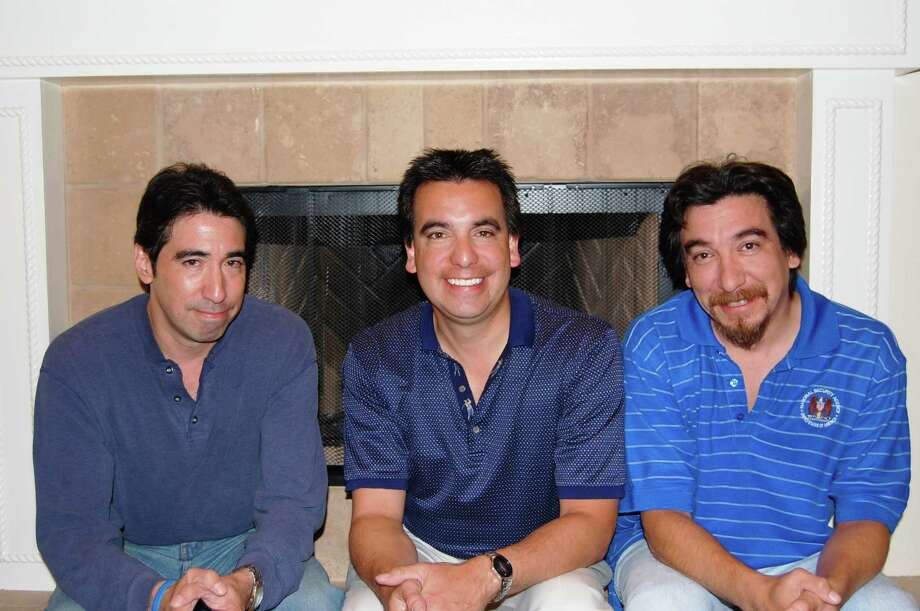 This pictures was taken in late October, 2010 at my son, Robert's home. They are at that time from left to right, Michael (Khail) Lozano, 43, Robert, 41 and Dan, 42. They are still very close to each other just like when they were little boys. -- Esther O. Lozano Photo: Esther Lozano, Reader Submission