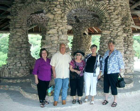 Sunken Garden 2012. Descendants of Kaspar and Anna Albrecht Feldtman gather at The Japanese Tea Garden to honor their great aunts and grandparents who also gathered for a nice luncheon here in 1927.